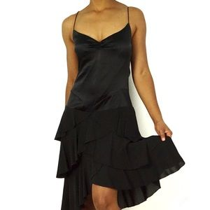 Nicole Miller | Silk Tiered Ruffle Cocktail Dress